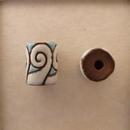 SB-59-A - Golem Studio tube bead in White Swirls