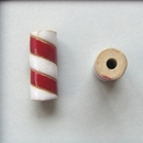 CTB-12-A Red and White tube bead