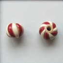 CSB-06-R - Golem Studio round bead in Red and White