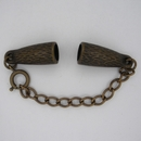M01082 - Clasp for 7mm cord with extender chain in Old Gold