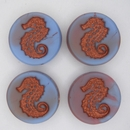 23mm Matt Blue and Purple Seahorse bead