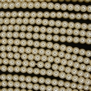 120 x 4mm round glass pearls in Old Lace