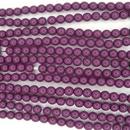 120 x 4mm round glass pearls in Aubergine