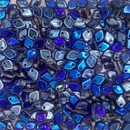 Dragon Scale beads in Crystal Azuro