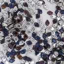 3g Dragon Scale beads in Crystal Bermuda Blue