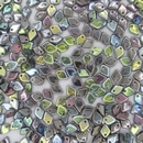 Dragon Scale beads in Crystal Graphite Rainbow