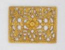 Filigree Rectangle disc (1950s) 3.4cm Gold M47