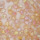 30 x pip beads in Yellow Rainbow