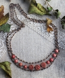 """Exclusive """"Old Rose"""" beaded chain necklace kit"""