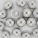 4 x 14mm dome beads in Silver