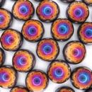 14mm Black Sliperit Dome Beads