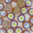 4 x 14mm dome beads in Brown Rainbow