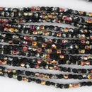 50 x 2mm faceted Black Marea beads