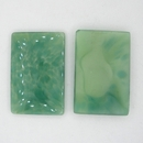 Cab87 - 27x18mm rectangular cabochon in Green Marble (Vintage)