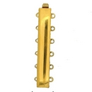 Claspgarten Gold clasp with 6 rows 12788 - 37x6mm