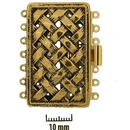 Claspgarten Old Gold clasp with 7 rows 14746 - 40x25mm