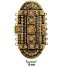 Claspgarten very large Old Gold clasp with 7 rows 14703 Light Colorado Topaz - 61x31mm