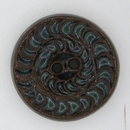 Dark Brown / Dark Green glaze carved ceramic Golem Studio button 5