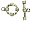 Claspgarten Silver Toggle clasp with 1 row 12863 - 15mm