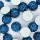 Cab100 - 13mm plastic cabochon in Dark Blue Marble (Vintage)