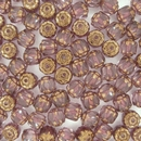10 x 6mm Dark Amethyst / Bronze Window beads