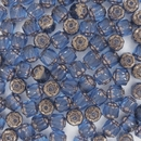 6mm Sapphire / Bronze Window beads