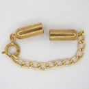 Gold plated clasp with extender chain M01082 for 4mm cord