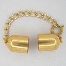 Gold clasp for 10mm cord with extender chain M01350