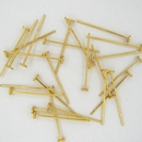 50 x Gold plated head pins 2.0cm
