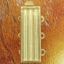 Claspgarten Gold clasp with 3 rows for use with Delicas 14843 - 20x7mm