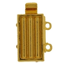 Claspgarten Gold clasp with 2 rows for use with Delicas 14843 - 13x7mm