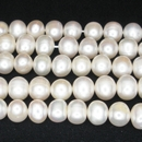 String of 6-8mm round cream freshwater pearls