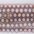 15 inch string of 5mm round Lavender freshwater pearls