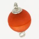 Claspgarten Matt Peach magnetic round clasp 14844-003 - 12mm