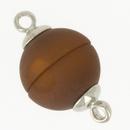 Claspgarten Matt Brown magnetic round clasp 14844-006 - 12mm