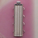 Claspgarten Silver clasp with 4 rows for use with Delicas 14843 - 26x7mm
