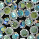 Cab104 - 12mm round cabochon in Crystal AB (Vintage)
