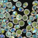 8mm Crystal AB Round Chaton (Vintage Czech)