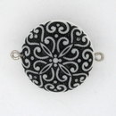 22mm White / Black magnetic clasp M14