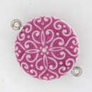 M12 - 22mm magnetic clasp in White/Fuchsia