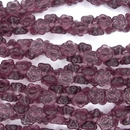 10 x 7mm top drilled flowers in Amethyst