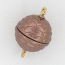 M9 - 14mm magnetic round clasp in Matt Antique Copper