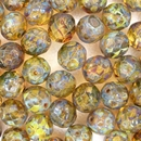 5 x 10mm faceted beads in Topaz Picasso