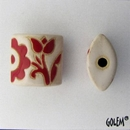 CPB-008-C-XL - Golem Studio pillow bead in Red and White