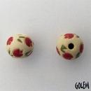 SB-81-B Red Tulips round bead