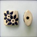 CPB-006-A-XL Dark Blue Flowers pillow bead