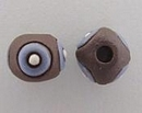 CSB-20-A - Golem Studio round bead in Brown with Blue circles