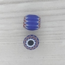 7mm Blue Venetian rosette bead with 6 layers (1940s)
