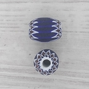 9mm Venetian rosette bead in Navy with 6 layers (1940s)