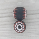 11mm Black and Red Venetian rosette bead with 6 layers (1940s)